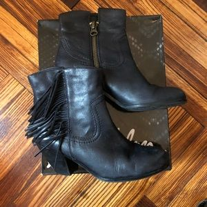 Sam Edelman Shoes - Sam Edelman Louie Black Leather Ankle Boot